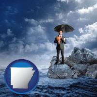 ar map icon and a business insurance concept photo