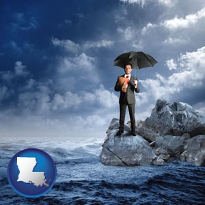 a business insurance concept photo - with Louisiana icon